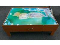 Imagination table with two draws