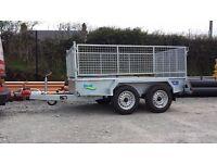 8x4 twin wheel galvanised car trailer suit builders and gardeners quad rideon lawnmower
