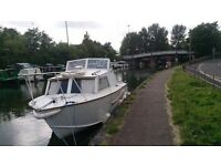 One of a Kind Cabin Cruiser Canal Boat Fishing Boat