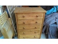 large pine ikea chest of drawers - free delivery