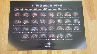 New Versatile Tractor History Poster Versatile Ag Ford New Holland Buhler