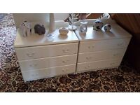 2 x shabby chic chest of draws