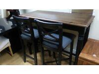 Designer Mark Webster Padstow Black & Darkwood Breakfast bar and stools