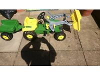 *** FOR SALE *** John deer tractor and trailer