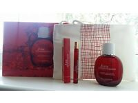 NEW Set CLARINS Paris Eau Dynamisante spray 100 ml + spray 10 ml + cosmetics bag