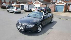 AUDI A4 1.8T CABRIOLET 2006 S LINE MANUAL BLACK