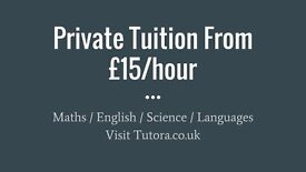 Abingdon Tutors - £15/hr - Maths, English, Science, Biology, Chemistry, Physics, GCSE, A-Level