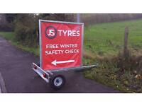 new Small galvanised advertising trailer led lights AVAILABLE AT ARMAGH TRAILERS
