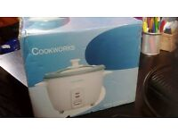 New and Unused Cookworks Rice Cooker