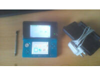 Aqua 3DS with 3 games + charger