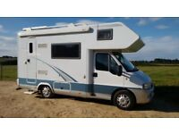 Hobby Alcoven 585 5 berth motorhome with habitation check and FSH