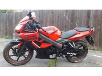 KYMCO KR SPORT 125cc FOR SALE OR PART EX. NOT CHINESE BIKE LOW MILEAGE (NEW ENGINE 1,900 MILES )