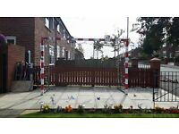 Large ex gym football nets / soccer nets / football nets / goal posts / football /