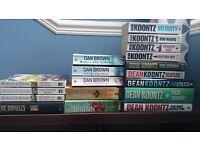 Book Bundle, Dean Koontz, Dan Brown etc. Will Split.