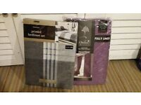 Curtains and duvet set package