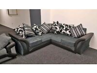 NEW FARROW SHANNON CHENILLE FABRIC CORNER SOFA & 3+2 SEATER AVAILABLE IN STOCK