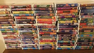 DISNEY VHS THE CLASSICS BLACK DIAMOND MASTERPIECE COLLECTION LOT OF 100 TAPES