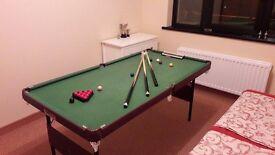 6x3ft children's snooker & pool table