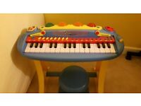 child's musical keyboard