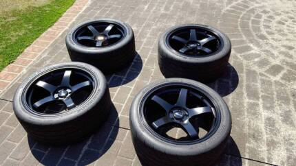 18x9 +35 DTM P5 (with hankook rs3) FOR SALE St Clair Penrith Area Preview