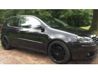 2004-vw golf mk5 GT -tdi 2.0cc 200bhp r32 alloys adjustable coilovers xenons met black mot £1495