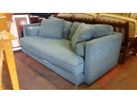 Teal blue 2 seater sofa (delivery available)