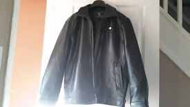 emporio armani collection mens zip leather jacket worn once med/large