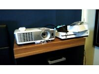 """Benq W1070 HD 3D Projector with Glasses and 92"""" Pulldown screen, 5 year warranty"""