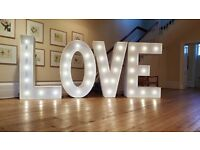 Giant Light up Love Letters -The LARGEST AVAILABLE IN THE UK !