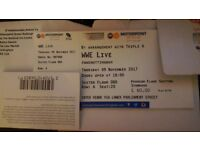 WWE Wrestling Ticket- Floor Seat Block ORD Row A- Nottingham Motorpoint Arena 9/11/17