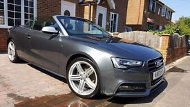 Absoloutly stunning example of our Audi A5 convertable in metalicGrey With£3600 worth of Audi extras