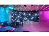 6 x 3 White LED Star Cloth. Static. Ready to hang