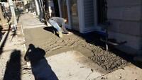 Concrete + interlocking work