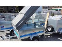 HANDY 5x3 MAYPOLE GALVANISED TRAILERS WITH LOCKABLE LID PERFECT FOR CAMPING OR FISHING GEAR OR TOOLS