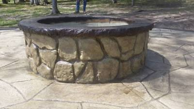 Concrete Fire Pit Seat Wall Form Liner - Boulder Face Long 14 X Tall 75 Long