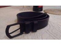 Black leather belt in near new condition RJR John Rocha. SMALL
