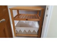 Baby changing unit in very good condition. Solid unit with large fabric storage underneath.