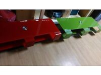 glass modern swivel tv stands green, black & red available