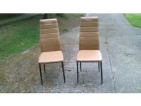 Padded Seat Dinning Chairs Faux Leather Kitchen Dining Living Room Home
