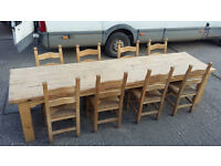 Reclaimed slipway timber Banquet Dining Table