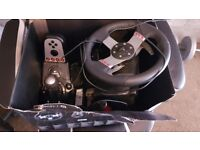 G27 Stearing Wheel, Pedels & Gear Shifter