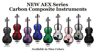 Glasser AEX Carbon Composite Acoustic Electric Violin - 4 string
