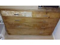 SOLID SET OF HEAVY DRAWERS IDEAL RESTORATION