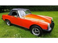 For sale; 1500cc MG Midget. One of the last made and registered in 1980.