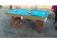pub size pool table with cue and balls - free local delivery
