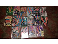 JOBLOT OF V THE SERIES COMICS