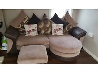 Large sofa and puffay