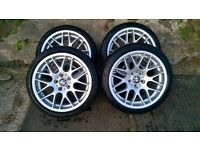 "18"" alloys, staggered, for bmw 320 etc"