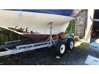 Galvanised twin axle yacht trailer for approx 26ft yacht of less than 3.5T