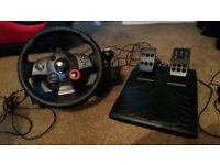 Logitech Driving Force feedback wheel PS3 PC